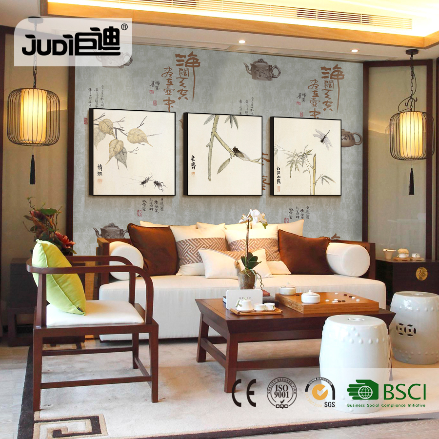 Top supplier high quality self-adhesive chinese writing wallpaper