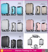 Hot selling new style aluminum metal luggage suitcases with metal frame abs metal frame travel luggage made in China