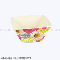 Factory Price Best Quality Square Melamine Bowl Bamboo Fiber Salad Bowl