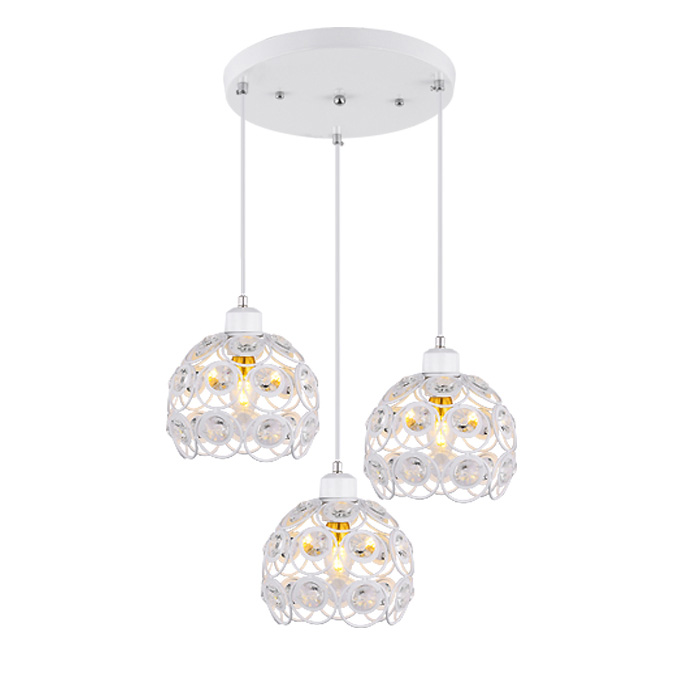 European Crystal restaurant Chandelier for Three round