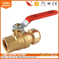 (2C-JELLY107) italy valve with lock 600 wog forged brass ball valve with F*M threaded and stainless steel handle with long alum