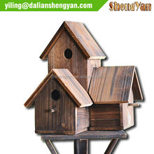 Unique Design Garden Decorative Wild Bird Houses Wood