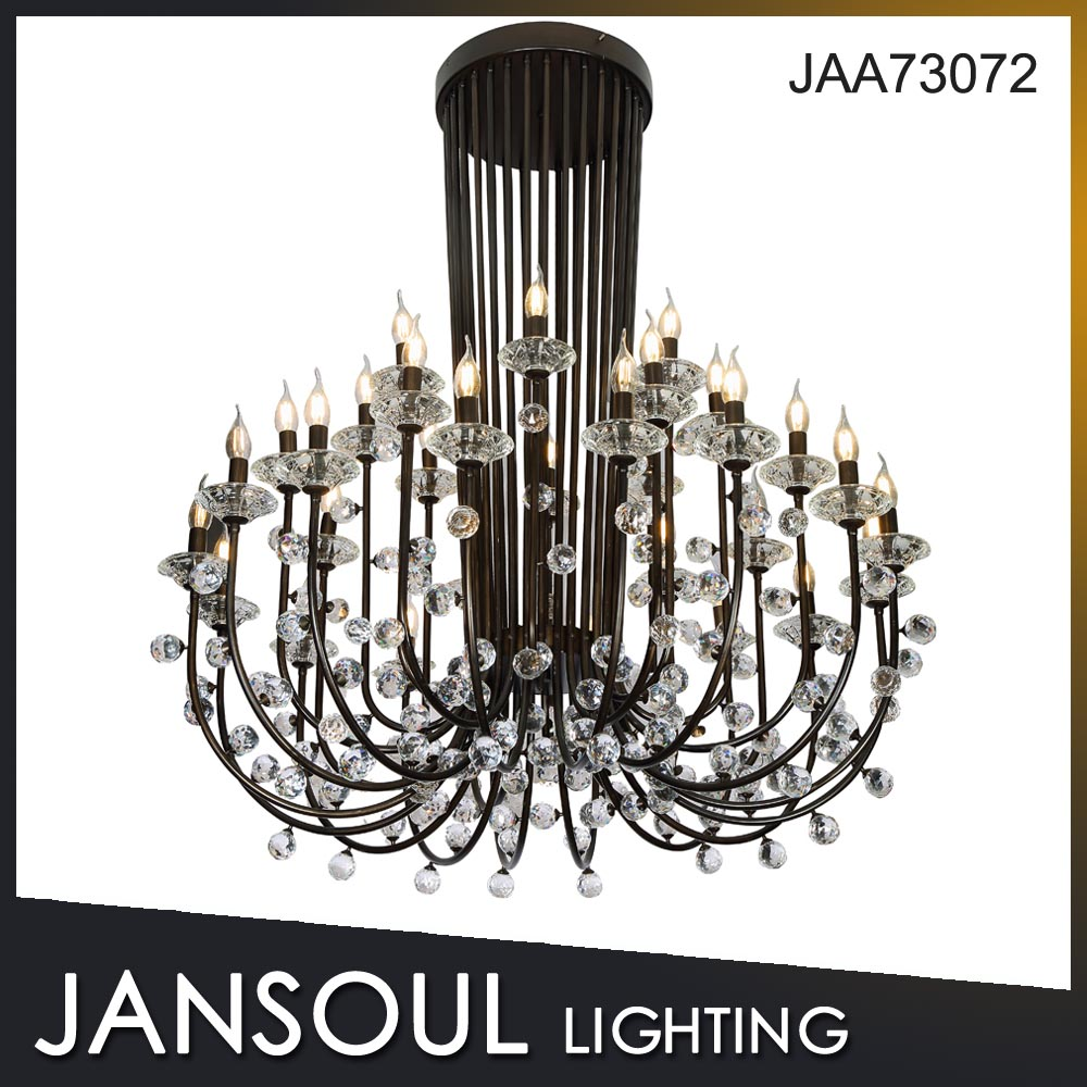 China popular traditional candle Metal Chandelier for lobby decoration