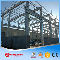 Hot Sale Painted Light Construction Design Steel Frame Structure Warehouse Fabrication Erection Metal Building China Factory