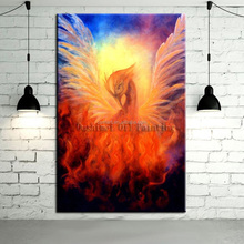 Professional Artist Hand-painted Abstract Animals Rising Phoenix Oil Painting On Canvas Handmade Myth Phoenix Oil Paintings