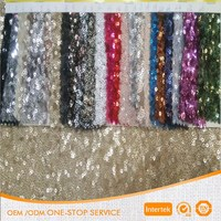 Stretch matte sequin net embroidery fabric for table cloth