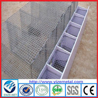 High quality industrial mink cage for sale, used galvanized mink cage, mink breeding cage with wooden box