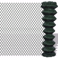 5% off green PVC coated chain link wire mesh