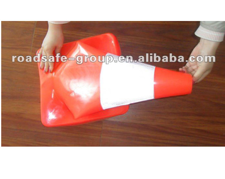 PVC material traffic cone reflector