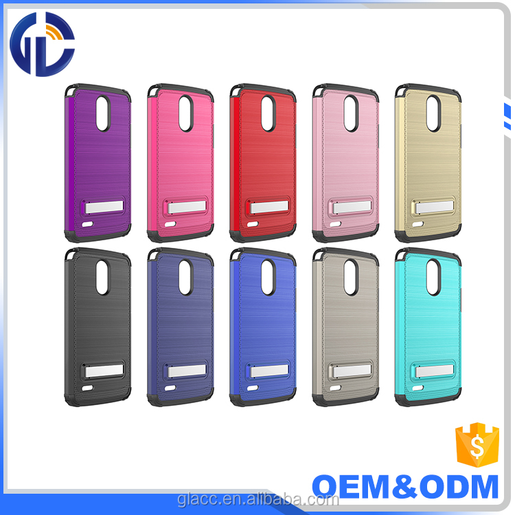 Protective tough slim armor smart phone case for LG Stylo 3 with good kickstand cover