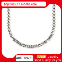 Quality ladies accessories italian sterling silver necklace chain