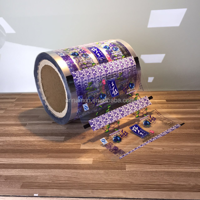 Transparent printing plastic package sachet roll film