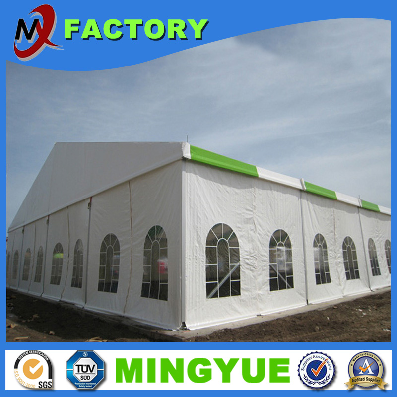 Guangzhou Factory 30m clear span fireproof white PVC warehouse wedding tent for supplies
