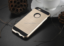 Brushed Metal Texture Anti-Shock Dual Layered Heavy Duty Slim Fit Case For iPhone 6 Case