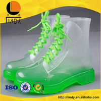 Special offer summer transparent rain shoes riding boots