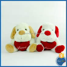hot selling hugging a particular heart toy dog