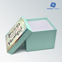 Blue Customized Disign Paper Gift Box