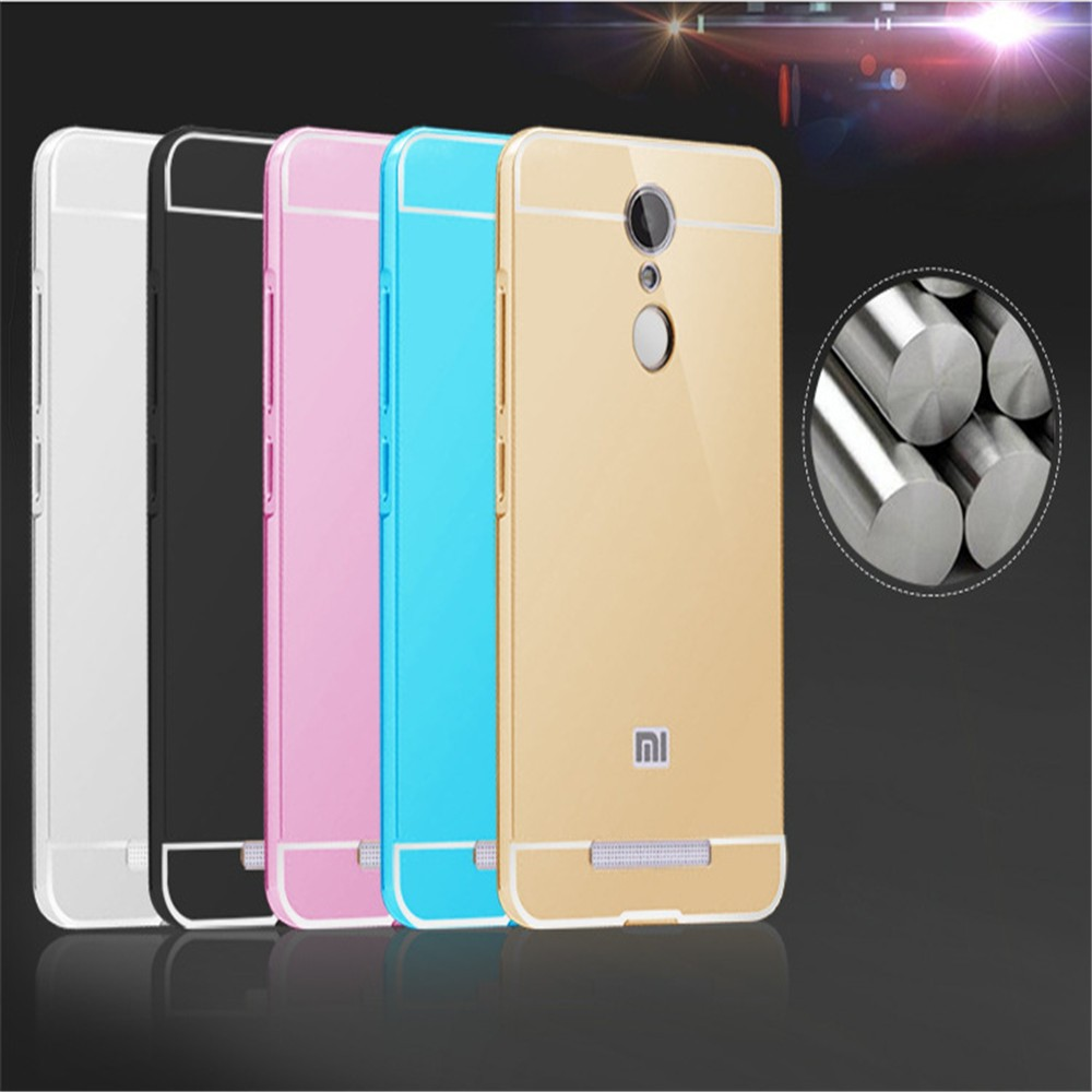 Wholesale colorful metal frame mirror phone case for xiaomi redmi ...