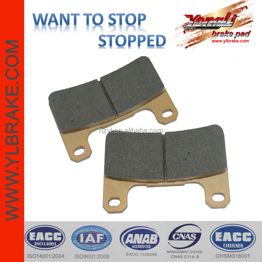 Performance motorcycle brake pads for KAWASAKI-ZX10R/ZR 1000 DAF/SUZUKI-GSXR 600 K4/GSXR 750 K4/M 1800 R/VZR 1800 K6