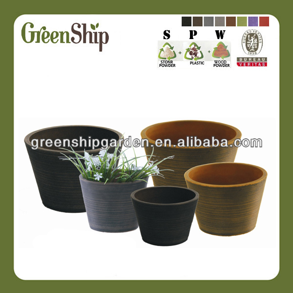 Decorative Garden Plant Bonsai Pot From Greenship/ 20 years lifetime/ lightweight/ UV protection/ eco-friendly