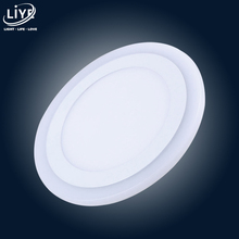 LED Downlight Round 6W 9W 18W 12W 3 Model LED Lamp Double Color Panel Light two Color Ceiling Recessed Lights Indoor Lighting