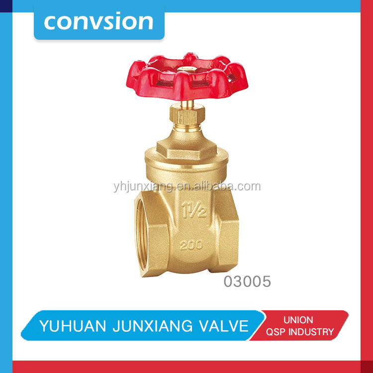 DN100 hand wheel brass gate valve