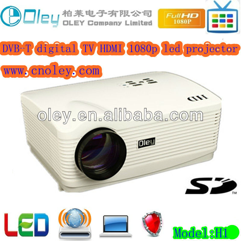 HDMI DVB-T digital TV function projector LED Projector /LCD Beamer digital home cinema projector 1280*800