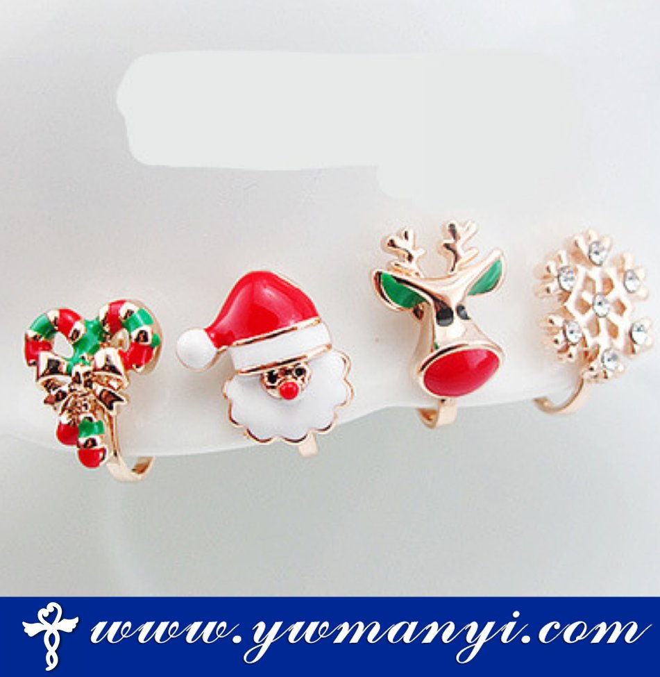Fashion cute Christmas jewelry / Christmas party earrings with factory price
