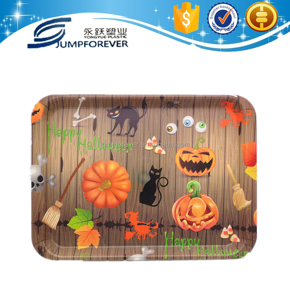 Hot sale halloween certification charger home decoration wholesale christm decor plastic plate