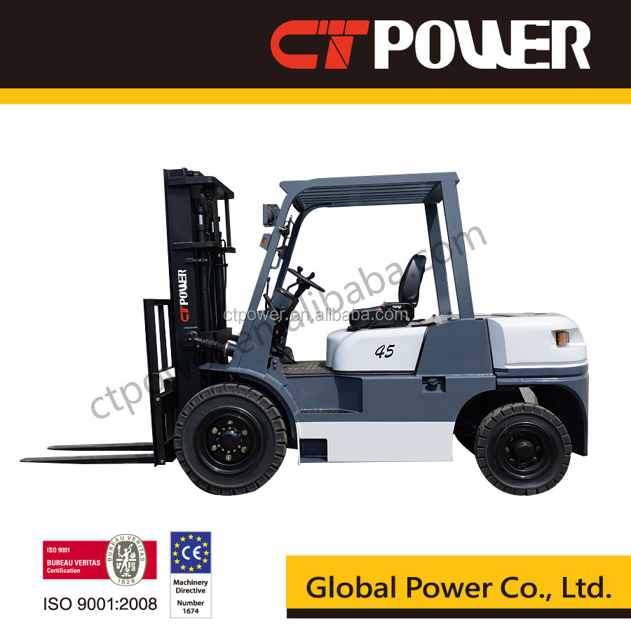4.5Ton Forklift Truck with Attachment CT Power Tailift