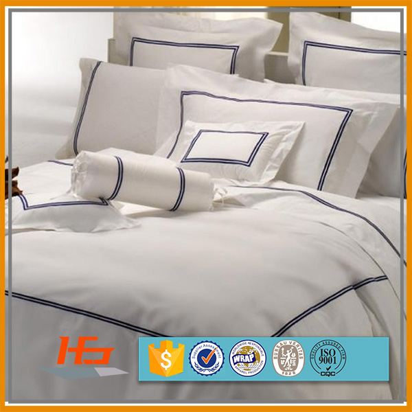 100% Cotton Embroidery Design Bed Cover Set Wholesale Hotel Bedding Sheets