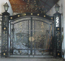 Antique Wrought Iron Driveway Sliding Gate