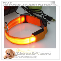 Rechargeable dog collar,usb rechargeable collars,dog led collar