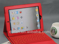 For iPad 2 3 4 Wireless Mini Keyboard Bluetooth Case with Colorful PU Leather Case