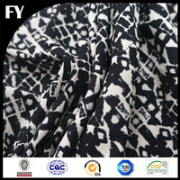 Best Selling FY 2016 Latest Custom Digital Print 100% Polyester Crepe De Chine Fabric UK for Scarf