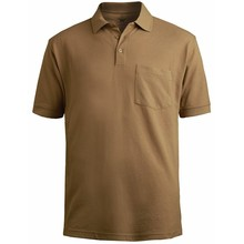 Custom Comfortable Summer Blank Brown Color Polo T Shirt