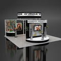 Detian offer portable expo stand for trade show, island trade show expo stand