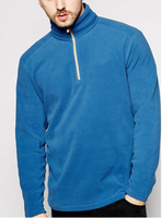 100% Polyester 1/4 Zip Fleece Funnel Neck Sweater