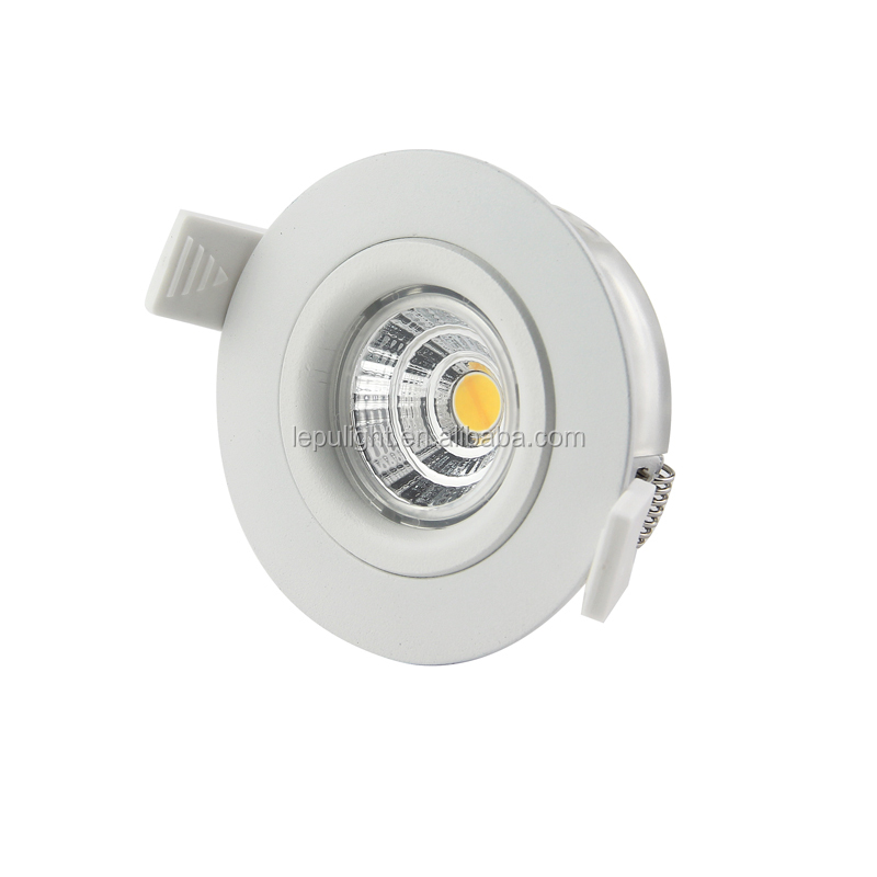 Gyro cct dim 1800k to 2700k cut 68mm hole mini led spot light downlights pass Nemko ACtec driver