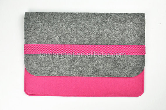 "Elegant Eco- friendly Felt Fabric Sleeve Case for 11"" 12"" 13"" 14"" 15"" 17"" Laptops Protector"