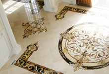 new style marble water jet inlay marble medallion for living room