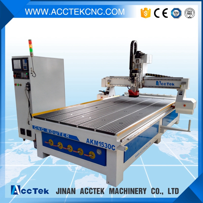 Factory price ATC cnc router 4 axis machine wood cutting machine AKM1530 customisable cnc touter for woodworking with Servo moto