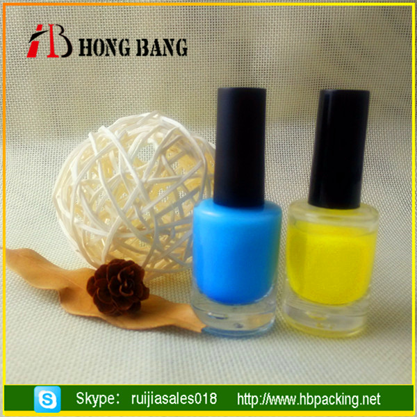 wholesale custom made square glass empty nail polish bottle