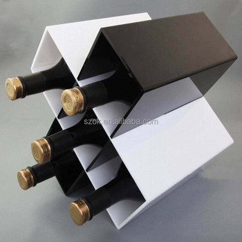 alli baba com different color top grade acrylic wine display rack