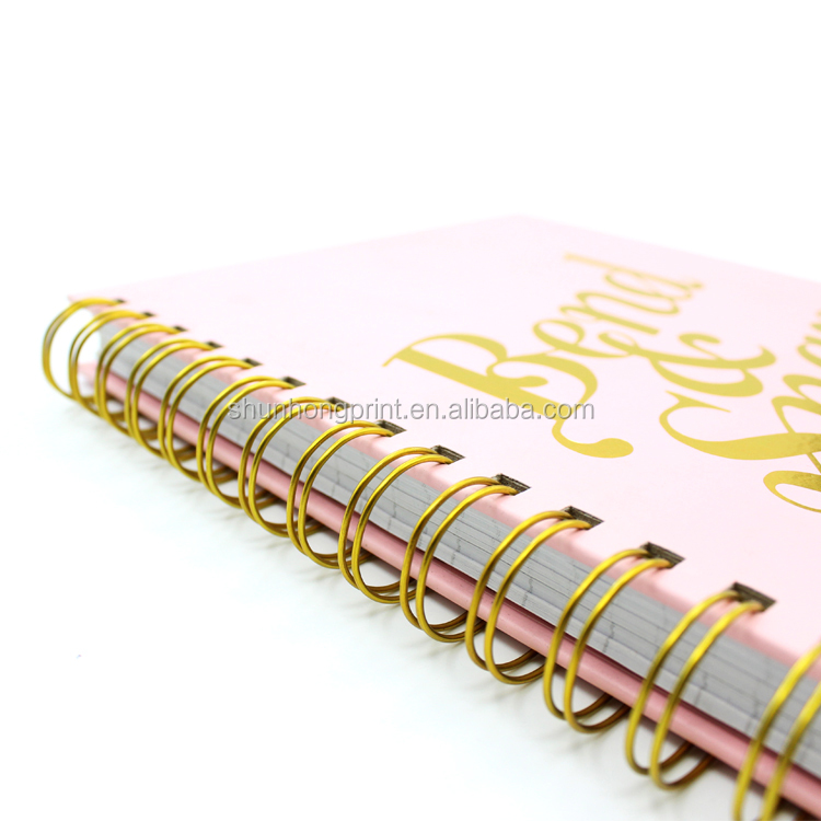 Custom logo paper planner personalized notebook printing