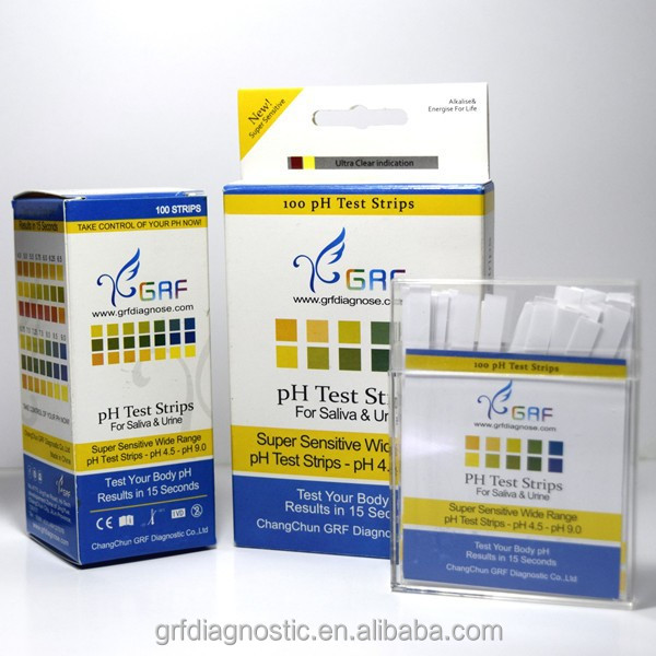 pH test strip customize color chart