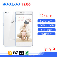 low price 5.5 Inch 13MP Camera 2GB RAM 16GB ROM China Octa Core Android 4G LTE Mobile Phone smartphone
