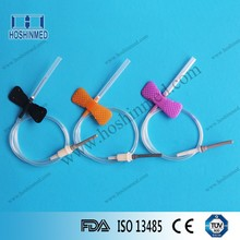 Disposable blood donor needle with luer adapter