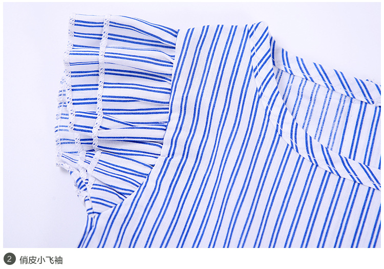 Baby Clothes Fly Sleeve Stripe Toddler Tops Kids Children Clothes