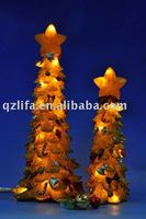 Christmas led tree lights in resin/lighted resin christmas tree for decoration